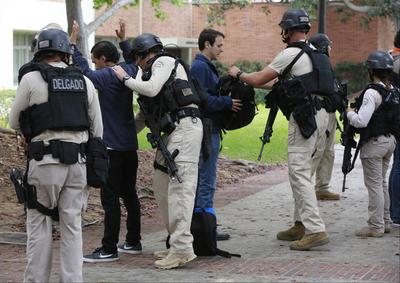 Agentes especiales colaboraron en el operativo.