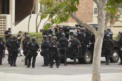 Gran cantidad de agentes llegaron al sitio.