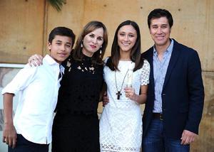 Nico, Pily, Ana Sofía y Nicolás