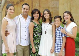 Paulina, Raúl, Tete, María Sofía, Raúl y Andrea