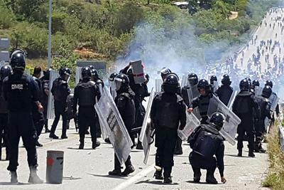 Cué informó que solicitaron el apoyo de la PF para desalojar los bloqueos implementados por grupos que simpatizan con el magisterio, como el Frente Amplio de Lucha Popular, encabezado por Flavio Sosa.
