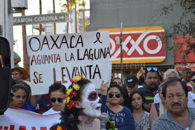 También manifestaron su apoyo hacia los docentes en Oaxaca.