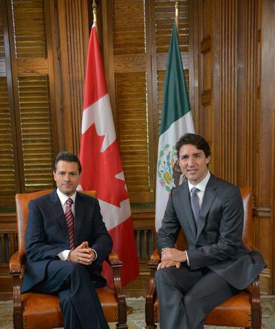 Peña y Trudeau, confirmaron que a partir de diciembre, se eliminará el requisito de visa para los mexicanos que viajen a esa nación.