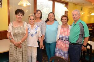 24062016 ENCUENTRO DE AMIGOS.  Adriana, Olga Lilia, Paty, Rosario, Luz María y Charlie.