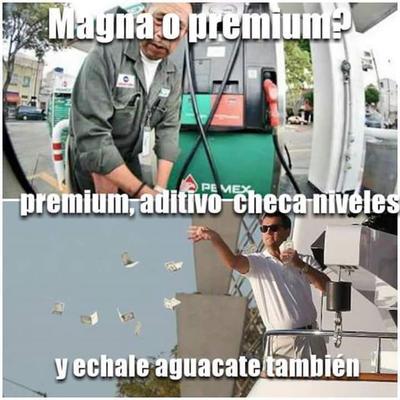 ¿Gasolina premium o un aguacate? He ahí la cuestión...