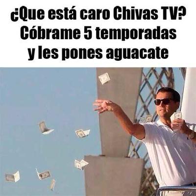 """Sólo los """"pudientes"""" pueden comprar aguacate, como los fans de Chivas que están dispuestos a pagar por su nuevo servicio de TV."""