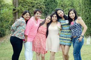 03072016 Lorena acompañada por Guadalupe Reyes, Malule Balcazar, Laura Astorga, Marisol Amador y Liz Velázquez.