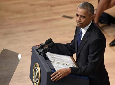 El presidente Obama elogió en su discurso la labor de los policías abatidos en el ataque y relató breves historias de cada uno.