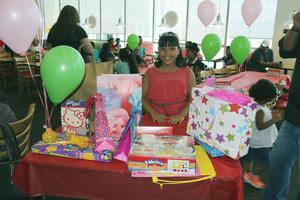 11072016 MUCHAS FELICIDADES.  Valeria García Castro en su fiesta por su cumpleaños número ocho.