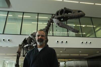 Presentación de Gualicho shinyae, un insólito dinosaurio carnívoro que habitó en la Patagonia Argentina durante el periodo Cretácico Superior, en un evento realizado en Buenos Aires. Gualicho.