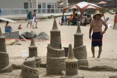 Vista de una escultura en arena, durante una competencia en el marco del Festival del Sol y Mar en Imperial Beach, California, (Estados Unidos).