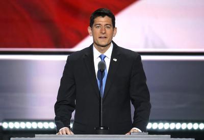 El portavoz republicano, Paul Ryan, habla en el segundo día de la Convención Nacional Republicana 2016 en el Quicken Loans Arena en Cleveland, Ohio.