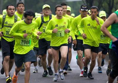 Peña Nieto siempre se ha distinguido por participar en carreras atléticas para mantenerse en forma