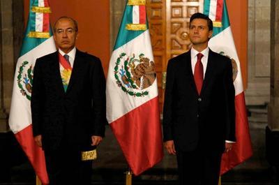 Peña Nieto ocupó el lugar como mandatario al culminar el sexenio de Felipe Calderón.