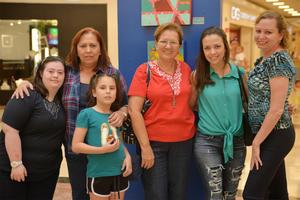 21072016 Ana Laura, Ana Laura, Andrea, Elsa María, Estefanía y Lourdes.