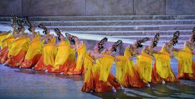 Los bailarines de la Danza Caracalla en Líbano.