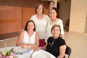 24072016 CELEBRAN SU AMISTAD.  Silvia, Meche, Coquito y Norma.