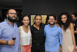 24072016 EVENTO CULTURAL.  Mauricio, Mariana, Miguel, José y Ayde.
