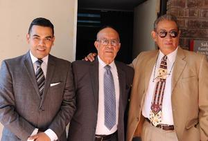 25072016 Ernesto Mayoral, Alfredo Miranda y Francisco Gómez.