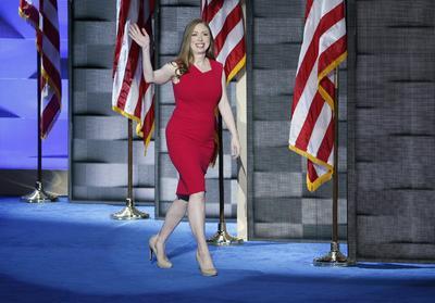 Chelsea Clinton ofreció algunas palabras para apoyar a su madre.
