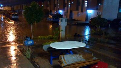 Denunciaron inundaciones en el circuito Mar Egeo.