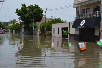 Las calles quedaron bajo el agua.