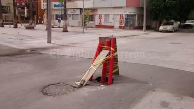 En Morelos y Jiménez se dañó el pavimiento.