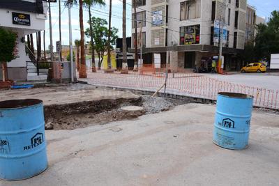 Las lluvias afectaron los trabajos del Paseo Morelos.