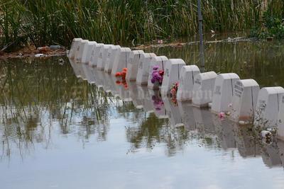 El panteón Jardines del Carmen sufrió inundaciones.