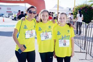 31072016 ATLETAS.  Valeria, Luisa y Altaf.