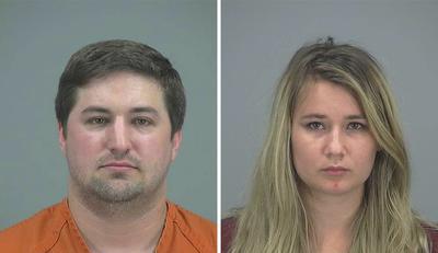 Combo fotográfico facilitado por la Oficina del Sheriff del Condado de Pinal de la pareja de San Tan Valley Brent Daley (izq), de 27 años, y Brianne Daley (dcha), de 25, arrestado por negligencia en el cuidado de su hijo en Arizona (Estados Unidos).
