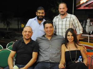 03082016 Roberto, Pedro, Víctor, Humberto y Gaby.