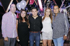 07082016 DE ANTRO.  Gerardo, Mónica, Fercho, Bea y Poch.
