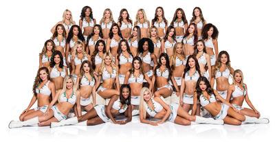 Fotografía promocional sin fecha cedida por Miami Dolphins, de las integrantes del equipo de porristas del equipo de fútbol americano Miami Dolphins.