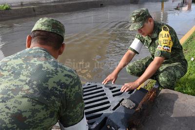 Elementos del Ejército brindaron apoyo tras la situación.