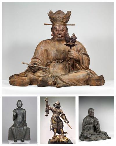 ROMA, Italia.- Imágenes facilitadas por la galería museística de las Escuderías del Quirinale. Un total de 21 esculturas budistas japonesas han salido por primera vez del país asiático para ser mostradas en Roma, en una muestra con la que se conmemora el 150 aniversario de las relaciones diplomáticas entre Italia y Japón. EFE