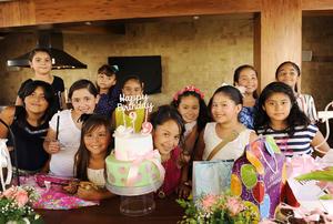 14082016 CUMPLE NUEVE AñOS.  Valentina disfrutó de gratos momentos en compañía de sus amiguitas.