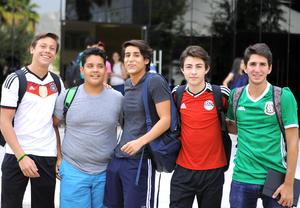 Omar, Anhuar, Juan, Eduardo y Arturo