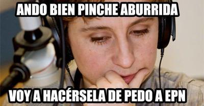 La periodista Carmen Aristegui no se salvó de los memes.