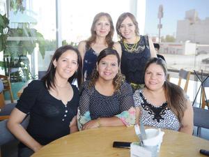 22082016 REUNIóN DE AMIGAS.  Susy Rodríguez, Araceli Rodríguez, Cecy Thomas, Lily de Posada y Gaby Aguilar.
