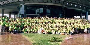21082016 AGRADABLE ENCUENTRO.  Alumnos, maestros, guías y coordinadores del grupo Vuelve a la escuela.