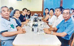 21082016 GRATOS MOMENTOS.  Ricardo, Celia, Roberto, Diana, Antonio, Fernando, Olga y Graciela en pasado festejo.