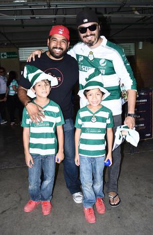 21082016 SANTISTAS.  Jorge, Carlos, Emilio y Carlos.
