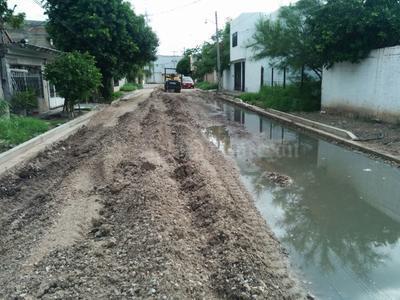 Así lucen las calles de Lerdo, también afectadas.