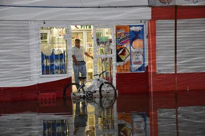 Las calles volvieron a inundarse.
