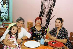 29082016 GRATOS MOMENTOS.  Natalia, Lucero, Rosy y Lucero.