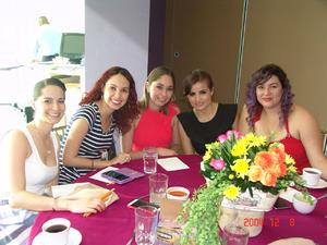 31082016 Saraisa, Rocío, Anette, Gaby y Luzma.