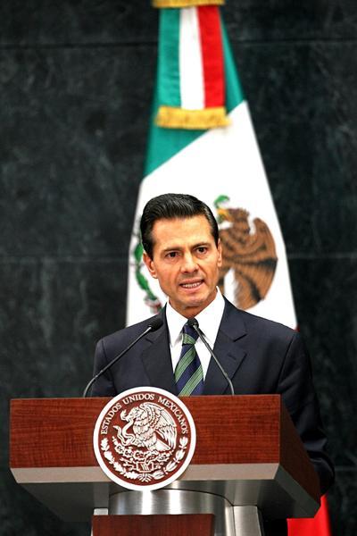"""Peña Nieto aseveraró que """"el gobierno de México será absolutamente respetuoso del proceso electoral de los Estados Unidos""""."""
