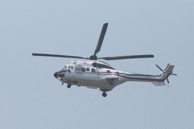 Donald Trump fue trasladado el helicóptero del AICM a Los Pinos.