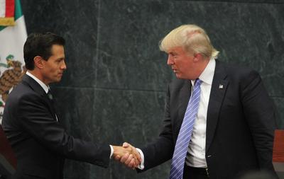 Enrique Peña Nieto recibió a Donald Trump en la residencia oficial de Los Pinos.